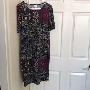 LuLaRoe Floral Pencil Dress Size Medium